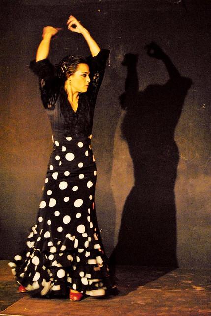 Traditional Spanish flamenco dancing