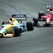 1991 F1 Canadian  GP Nelson Piquet Benetton leads Emanuele Pirro Scuderia Italia