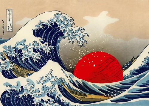 Japan Tribute (Under the Wave) - Illustration : Gilderic d'après Hokusai