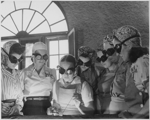 Secretaries, housewives, waitresses, women from all over central Florida are getting into vocational schools to learn war work.