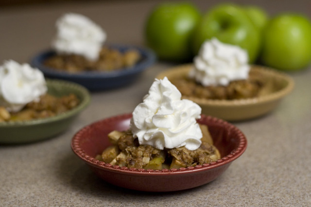 Apple Crisp with Whipped Cream