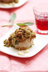 Roasted pork with sage and cashews
