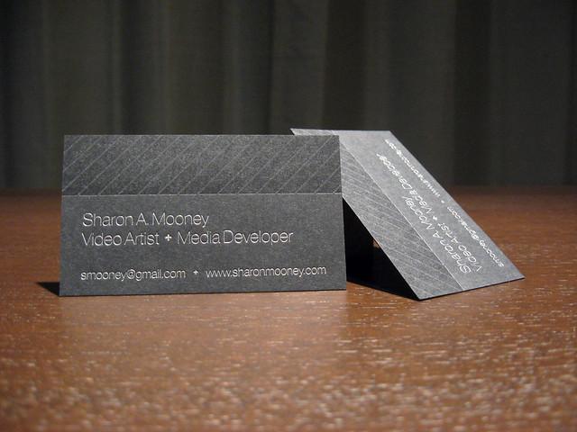 Sharon Mooney Letterpress Business Cards