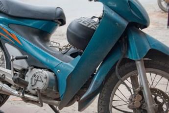 Blaue Honda Wave
