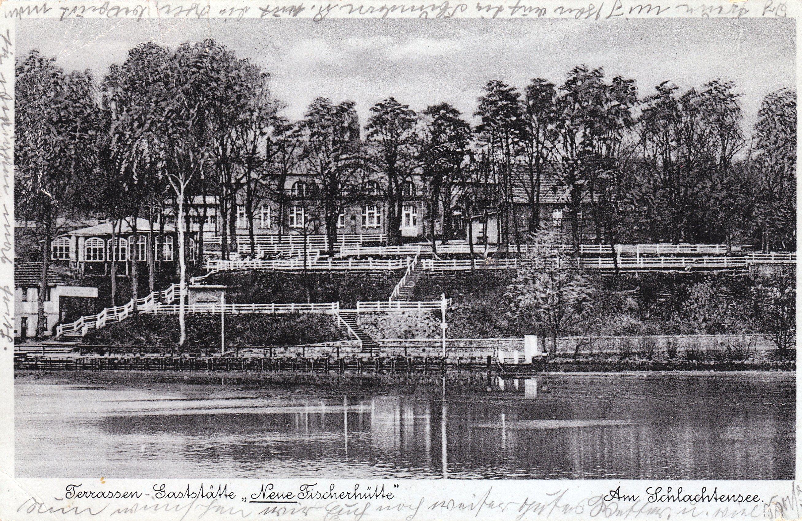 Neue Fischerhütte um 1938 (Quelle: Flickr / Thomas Lautenschlag)