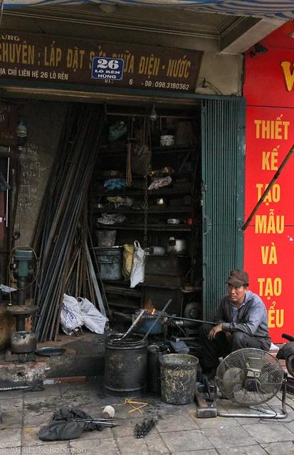 Blacksmiths shop, Old Quarter, Hanoi