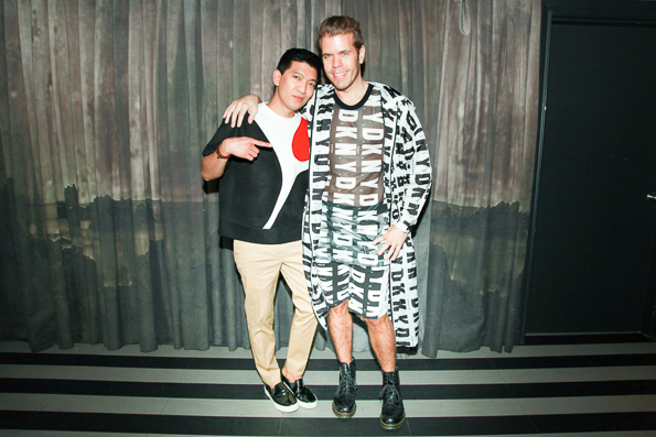 Bloggers Bryanboy and Perez Hilton at Up & Down