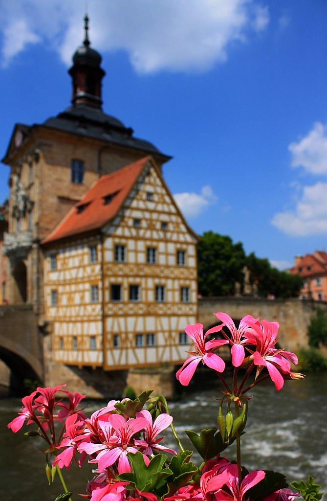 Altes Rathaus, Obere Bruecke, Geyerswoerthsteg, Bamberg, Germany
