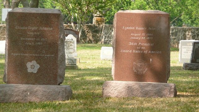 Image result for lbj dies funeral burial site tombstone