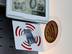 Etiquette NFC sur rayon
