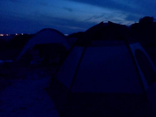 night sky camping