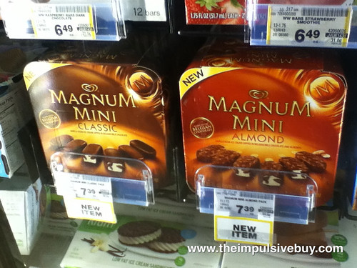 Magnum Minis on shelf
