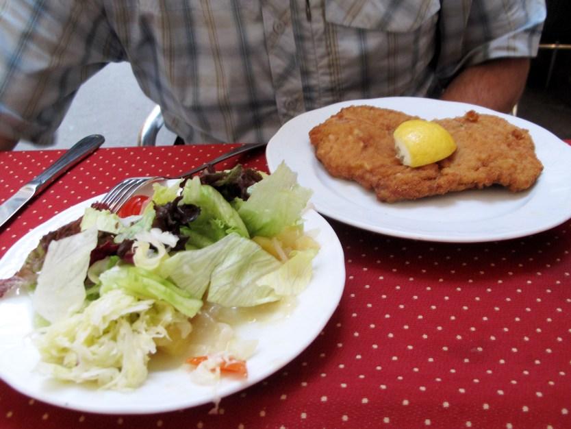 Schnitzel at Reinthaler's Biesl.