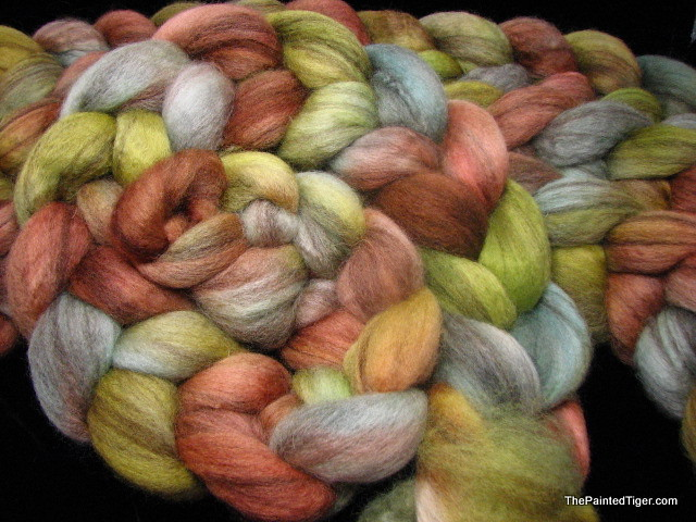 Cascade - Mixed BFL Combed Top Hand Dyed by The Painted Tiger