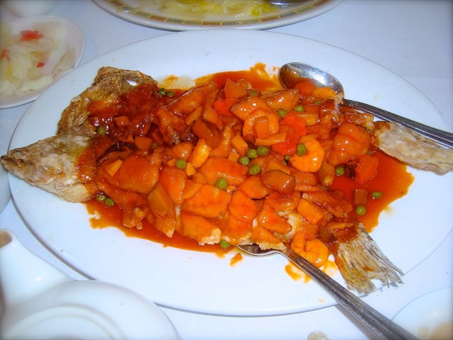 Fried Whole Fish In Sweet & Sour Sauce Without Bone