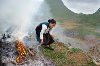 Preparing the land for the maize, Meo Vac, Ha Giang 2015