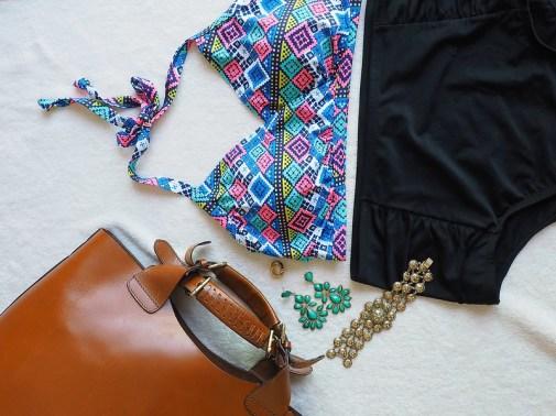 Tribal Print Bikini, plus size bathing suit, swimwear
