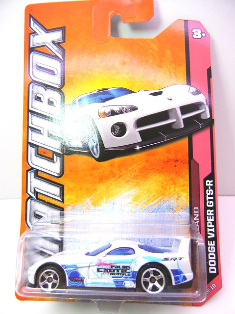 matchbox dodge viper gts-r white race (1)