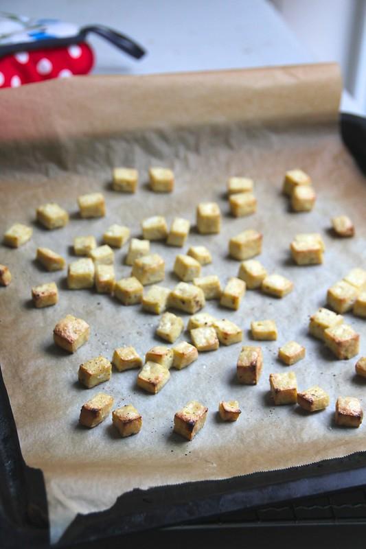 tofu croutons