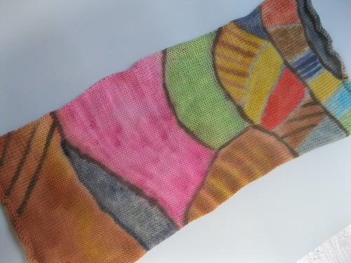 Finished Landscape sock blank