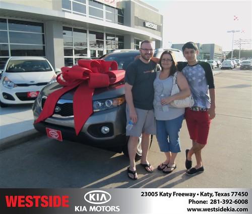Westside KIA Houston Texas Customer Reviews and Testimonials - Brandon Dillard by Westside KIA