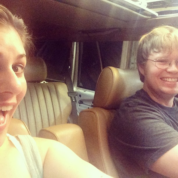 We're test driving the Benz! Woo hoo!!