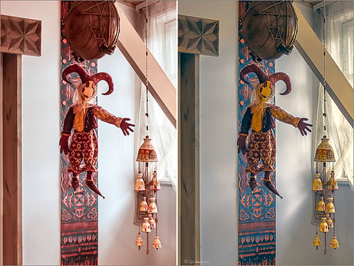 Image of a puppet and crafts using Topaz ReStyle