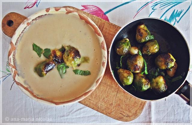 supa-crema de fasole cu varza bruxelles