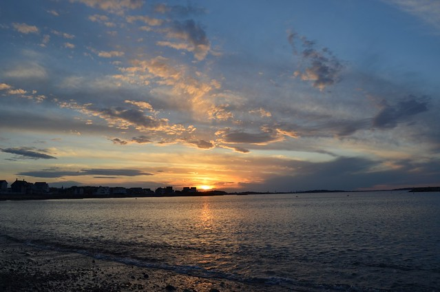 Sunset over Nantasket Beach