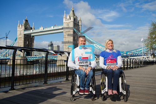 Elite Wheelchair Men and Women Athletes Photocall for Virgin London Marathon