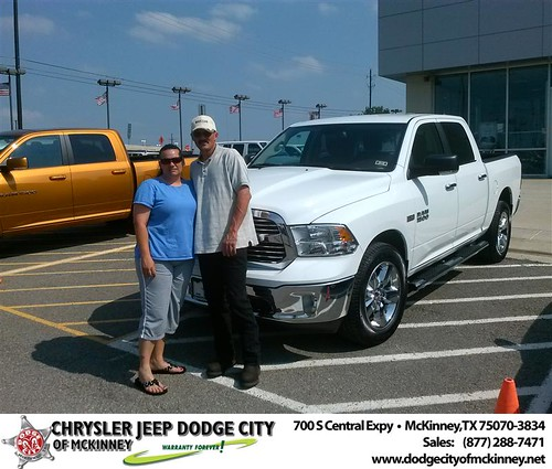 Dodge City of McKinney would like to say Congratulations to Stacey Hamilton on the 2013 Dodge Ram from David Walls by Dodge City McKinney Texas