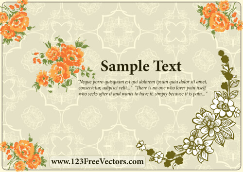Download Flower Wedding Invitation Card