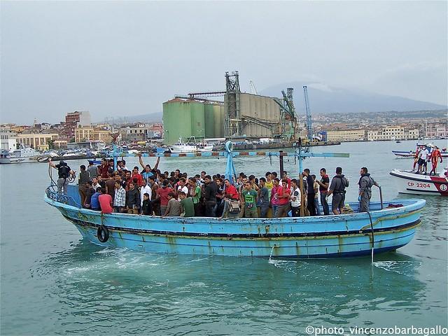 Migranti, lo sbarco