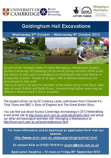 Goldingham Hall Excavation - Applications