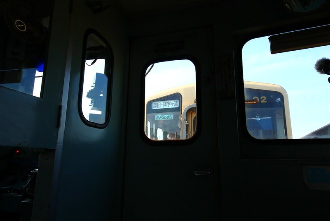 通常ダイヤの営業列車を後部に連結しての運行