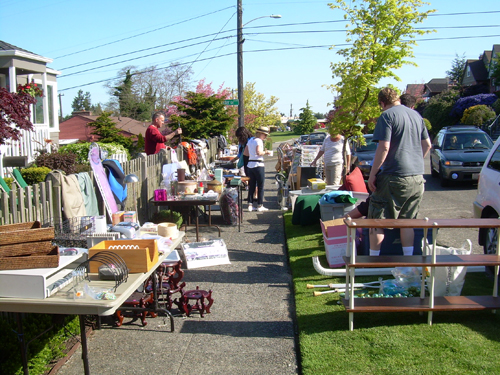 Sidewalk Sale in West Seattle