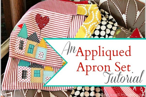 An Appliqued Apron Set Tutorial for the Therm O Web Blog!!