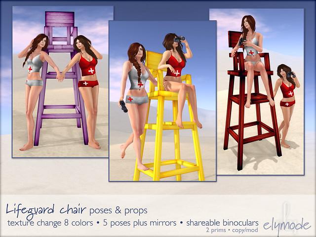 lifeguard chair poses