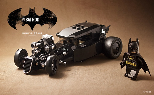 The 'other' car  –  minifig scale lego Batmobile