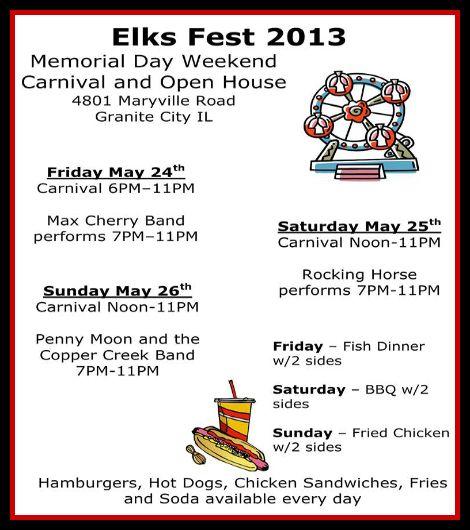 Elks Fest 5-24 thru 5-26-13