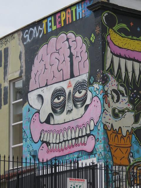 Stokes Croft street art - Sweet Toof, Cyclops, Rowdy...