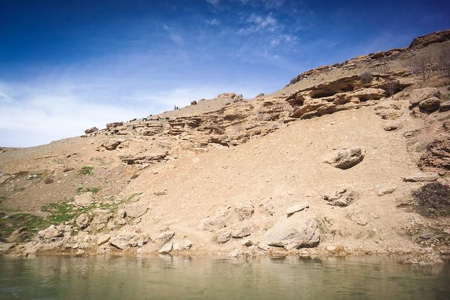 Bakhtiari herders on the riverside