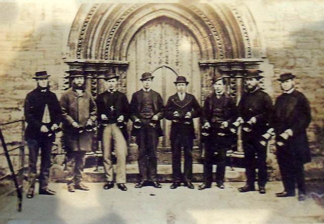 Handbells ringers St Augustine's Church, Hedon