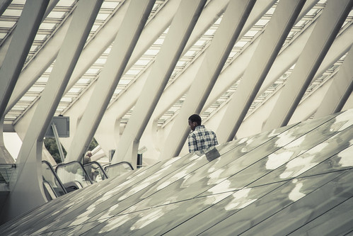 Lost in Structuration : Lines, Patterns & Reflections (Liège-Guillemins, Belgique) - Photo : Gilderic