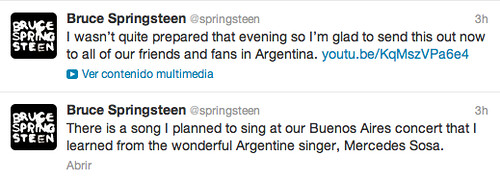 Tuits de Bruce Springsteen
