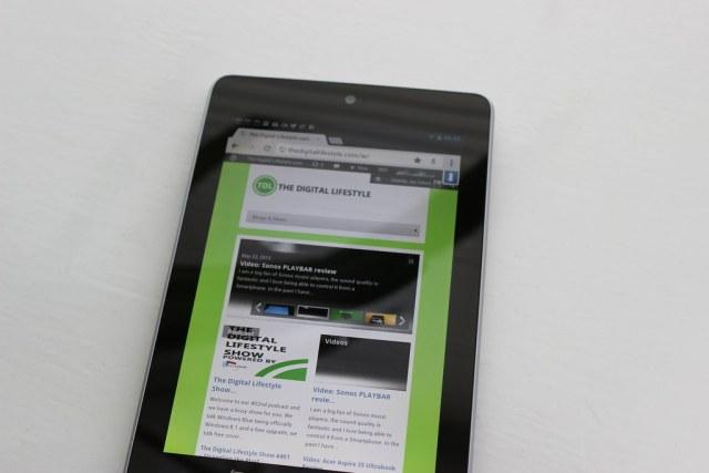 Chrome on a Nexus 7