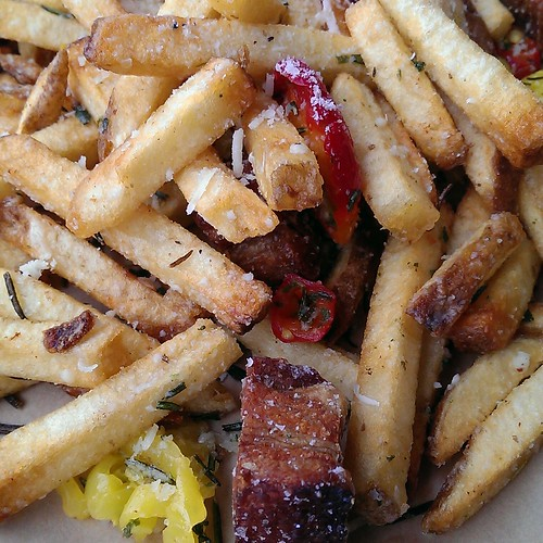 Dirty Fries close up at Lardo East