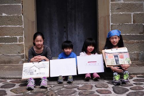 【寫生】新竹北埔「金廣福公館」:一級古蹟的客家建築(10.7ys)