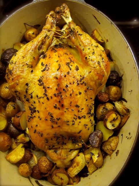 Pot-Roasted Chicken