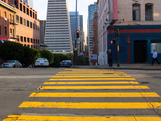 Big yellow crosswalk